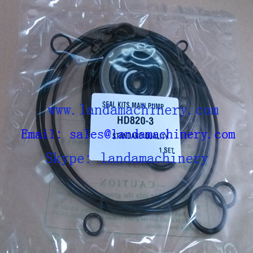 Kato HD820-3 Excavator main hydraulic pump 609-79900012 oil seal kit