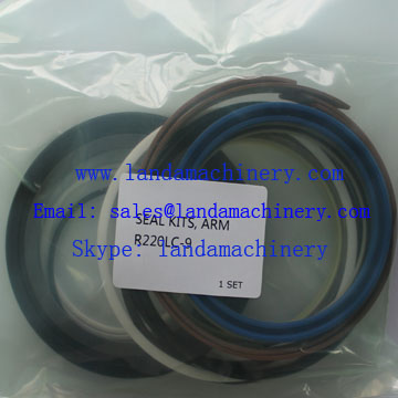 Hyundai R220LC-9 Excavator Hydraulic Seal Kit Cylinder Arm Oil Seals