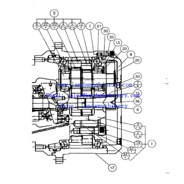 Case CX55 Excavator Travel Motor Reductor Final Drive Gearbox